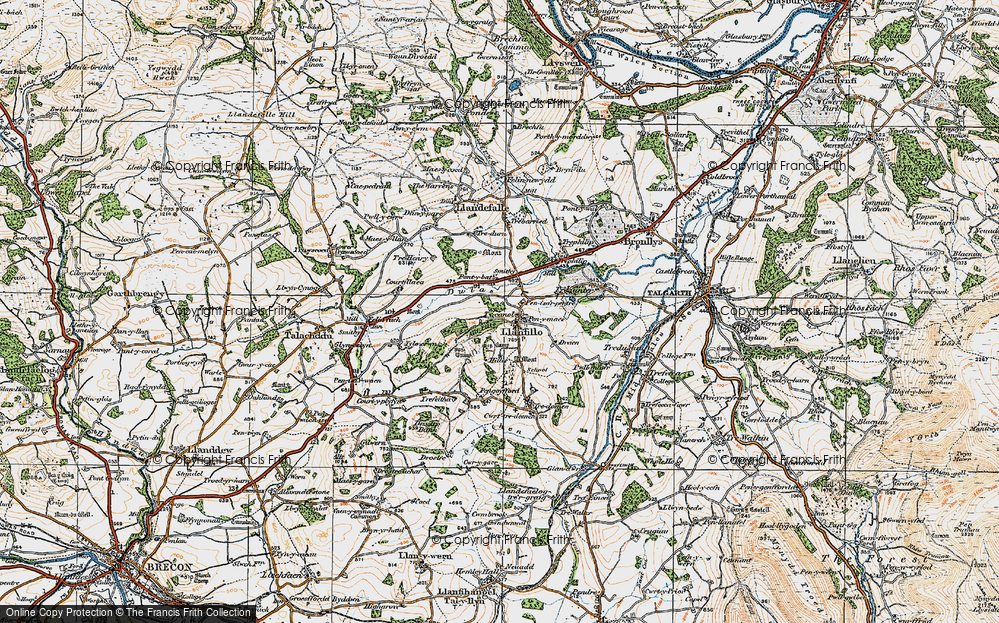 Old Map of Historic Map covering Allt Filo in 1919