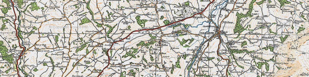 Old map of Allt Filo in 1919