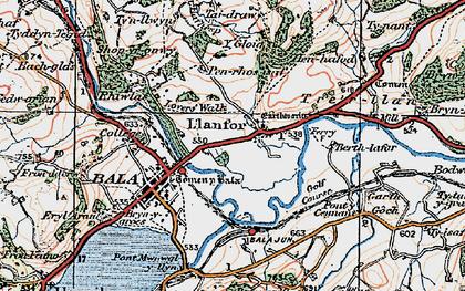 Old map of Y Gloig in 1922