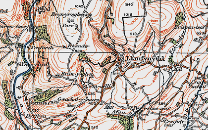 Old map of Allt Enoch in 1923