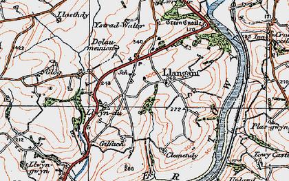 Old map of Ystradwalter in 1923