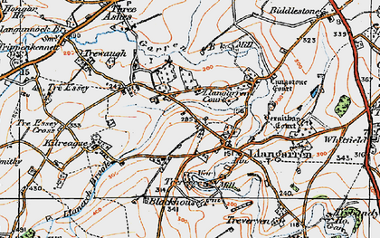 Old map of Langstone Court in 1919