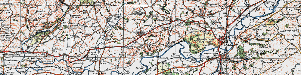 Old map of Aberglasney in 1923