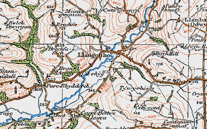 Old map of Aeron Dale in 1923