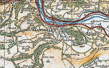 Old map of Llangollen in 1921