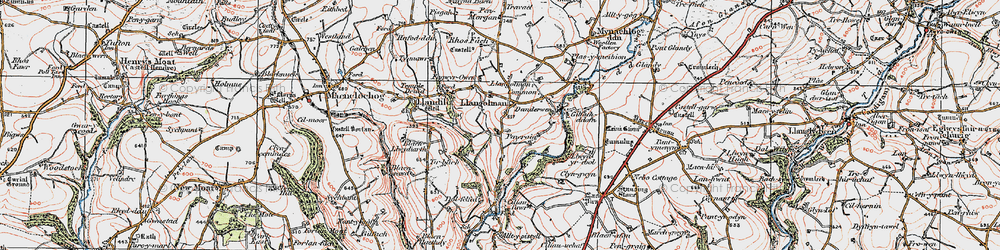 Old map of Alltypistyll in 1922