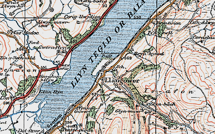 Old map of Tomen y Bala in 1921