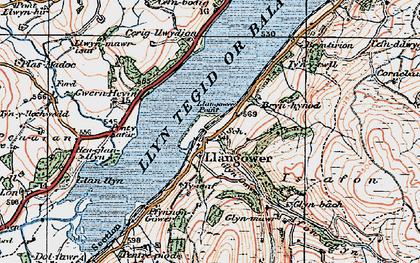 Old map of Afon Glyn in 1921