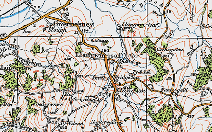 Old map of Llangwm in 1919