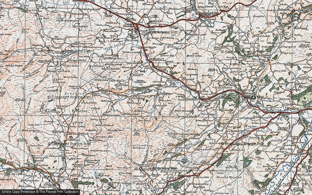 Old Map of Historic Map covering Afon Medrad in 1922