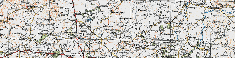 Old map of Ynys Creud in 1922