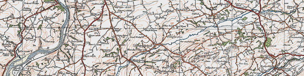 Old map of Alltycadno in 1923