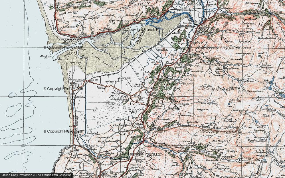 Old Map of Llangynfelyn, 1922 in 1922