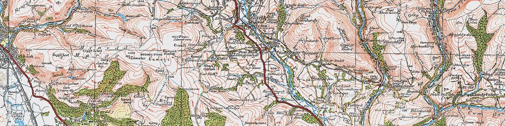 Old map of Llangynwyd in 1922