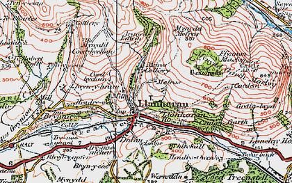 Old map of Llanharan in 1922