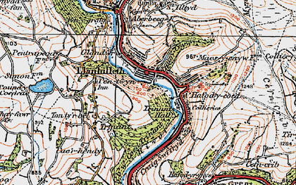Old map of Llanhilleth in 1919