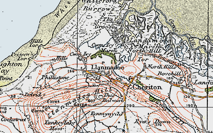 Old map of Whiteford Sands in 1923