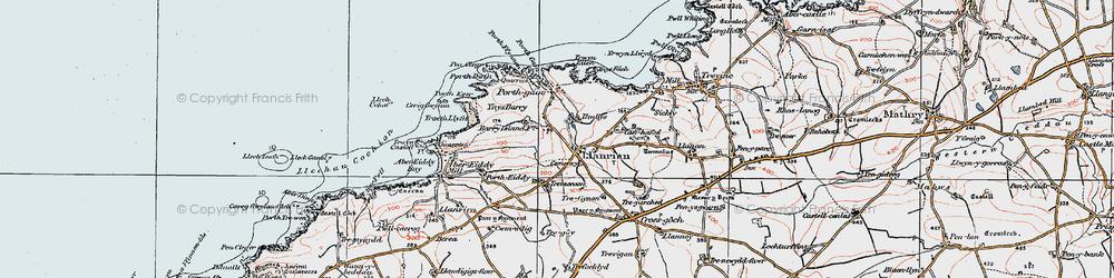 Old map of Llanrhian in 1922