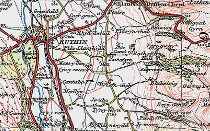 Old map of Bacheirig in 1924