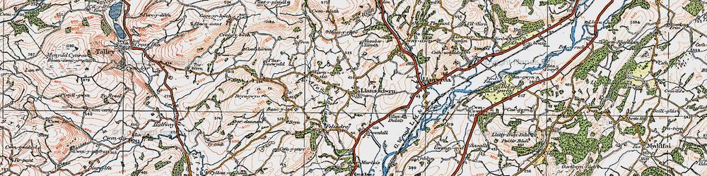 Old map of Aberdeunant in 1923