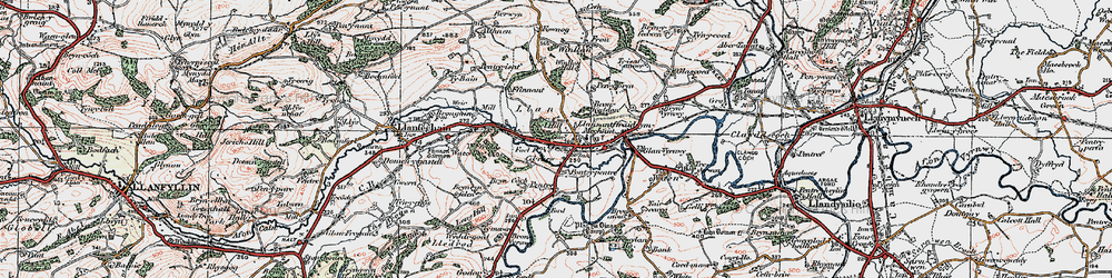 Old map of Y Ffrîdd in 1921