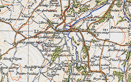 Old map of Acrau in 1922