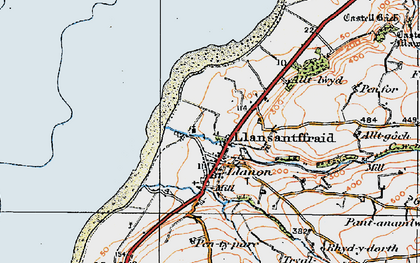 Old map of Llansantffraed in 1922