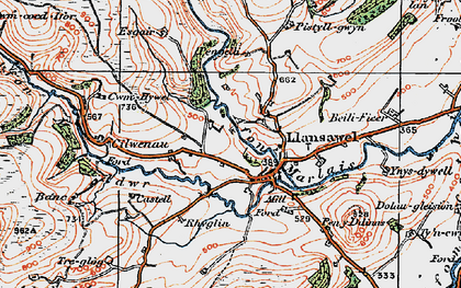 Old map of Wion in 1923