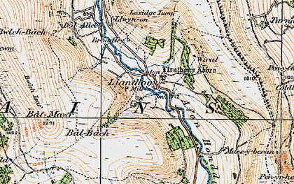 Old map of Bâl-Mawr in 1919
