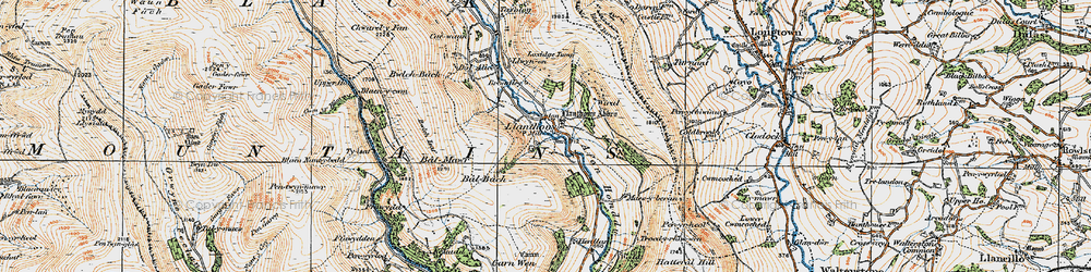 Old map of Wiral in 1919