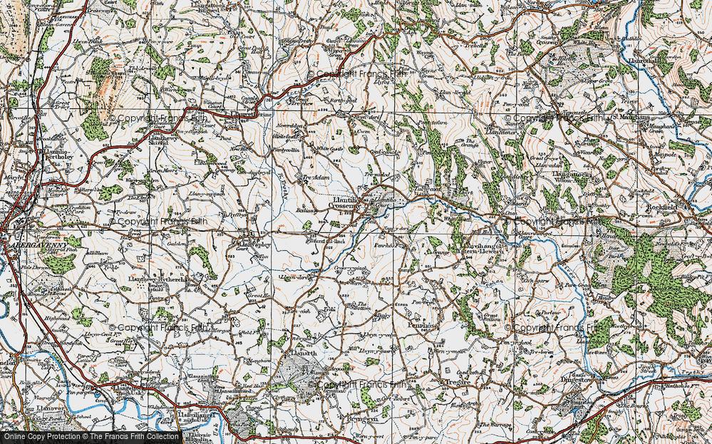 Old Map of Llantilio Crossenny, 1919 in 1919