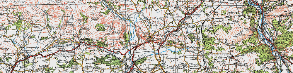 Old map of Llantrisant in 1922