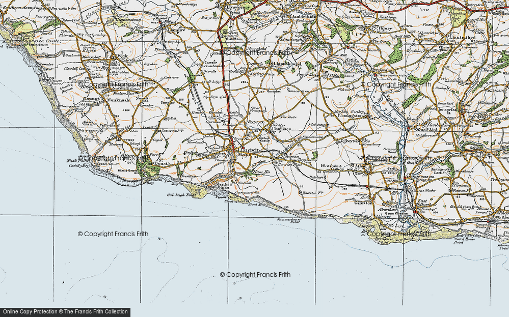 Old Map of Llantwit Major, 1922 in 1922