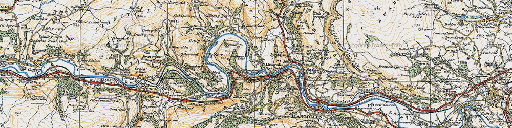 Old map of Llantysilio in 1921