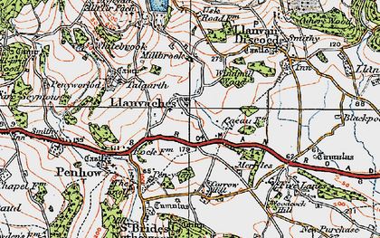 Old map of Whitebrook in 1919