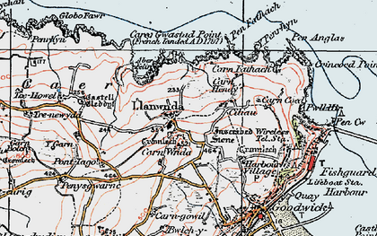 Old map of Y Globa Fawr in 1923