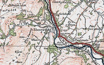Old map of Ashfield in 1923
