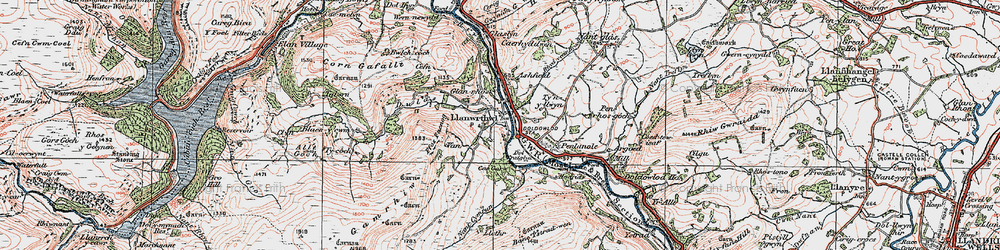 Old map of Argoed in 1923