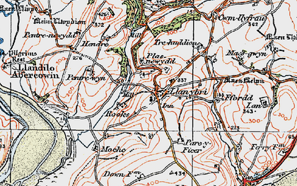 Old map of Laques in 1923