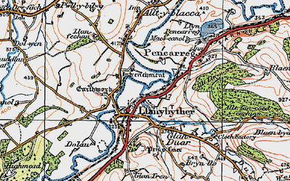 Old map of Afon Duar in 1923