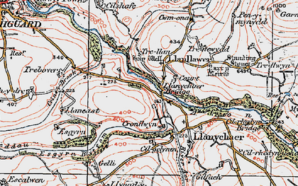 Old map of Llanychaer in 1923