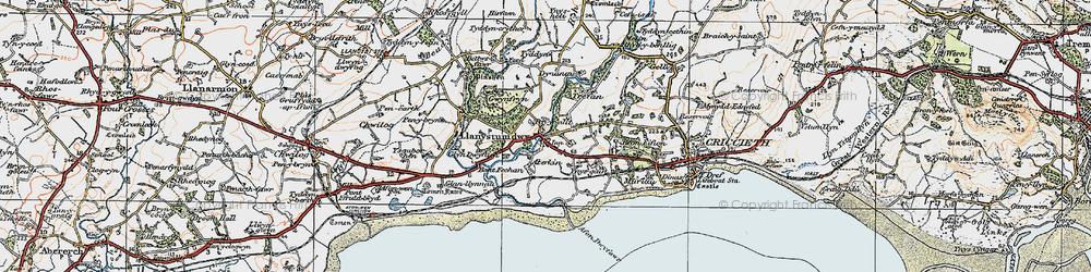 Old map of Aberkin in 1922