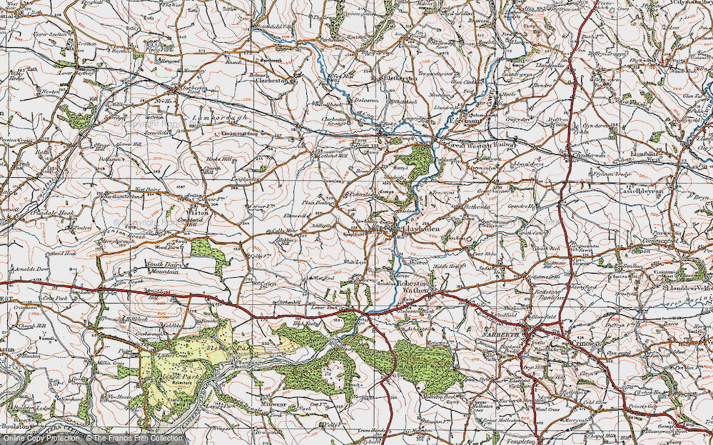 Old Map of Historic Map covering Addlepits in 1922