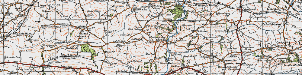Old map of Addlepits in 1922