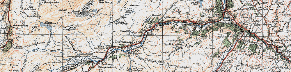 Old map of Lledr Valley in 1922