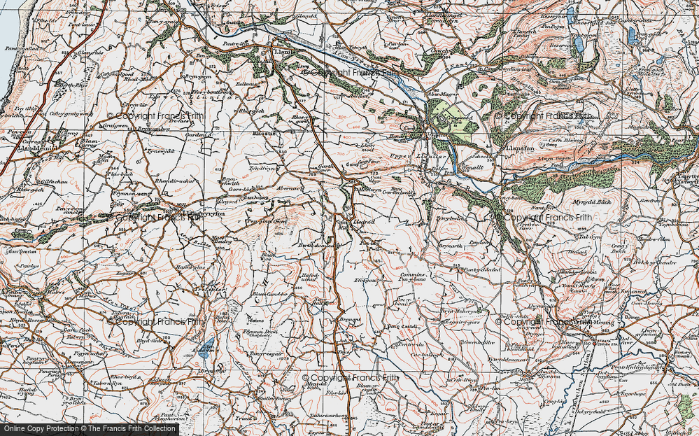 Old Map of Lledrod, 1922 in 1922