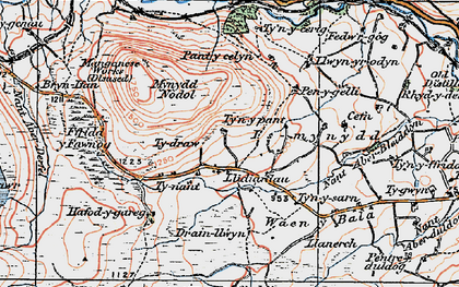 Old map of Aberderfel in 1922