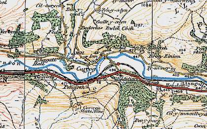 Old map of Llidiart-y-Parc in 1921