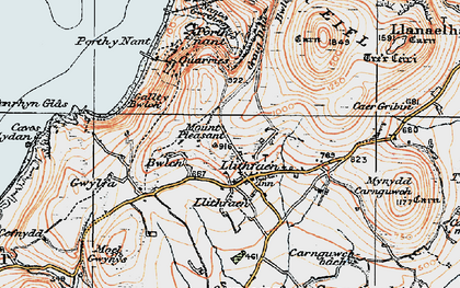 Old map of Llithfaen in 1922