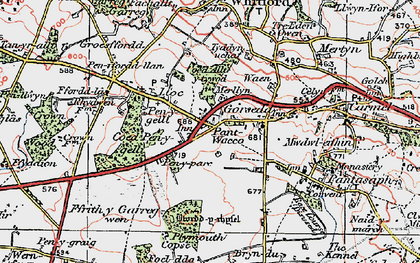 Old map of Lloc in 1924